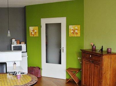 appartement in groen- en grijstinten